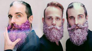 Glitter Beards กากเพชรติดหนวด เทรนด์ใหม่สไตล์ฮิปส์เตอร์ฟรุ้งฟริ้ง