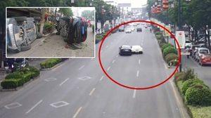 งานงอกแล้ว!! หนุ่มจีนซิ่ง Ferrari ของเพื่อน ไปเฉี่ยวชนกับรถคนอื่นจนเสียหายไป 3 คัน