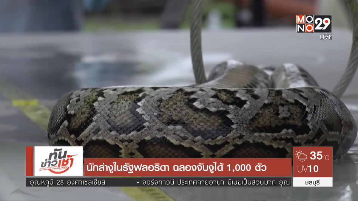 นักล่างูในรัฐฟลอริดา ฉลองจับงูได้ 1,000 ตัว