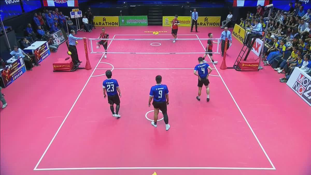 คู่ที่ 2 ทีม B : สโมสรตะกร้อ จ.นครปฐม VS สโมสรตะกร้อเกาะจันทร์แคมป์ จ.ชลบุรี (15-09-2018)