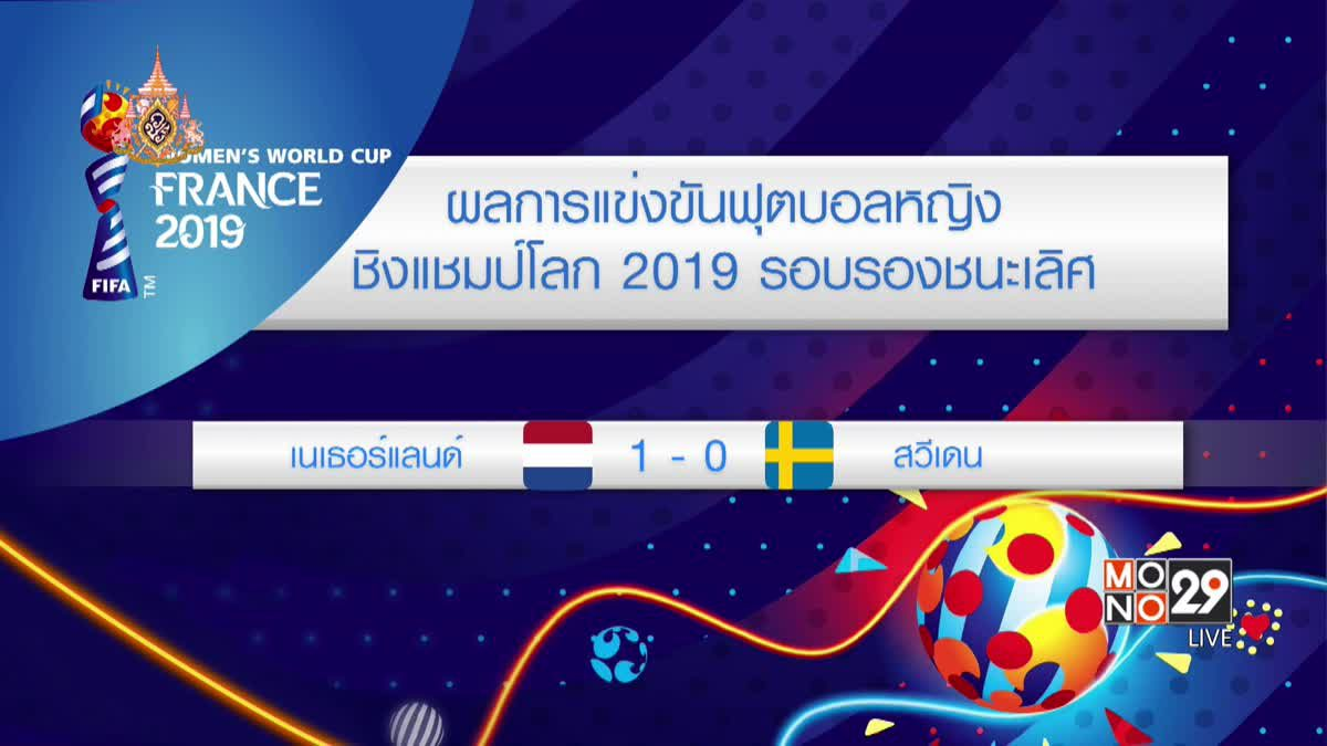 ผลการแข่งขันฟุตบอลหญิงชิงแชมป์โลก 201904-07-62