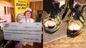 เหม็นจนได้เงิน มีงี้ด้วย เด็ก 12 ชนะประกวดหา เจ้าของรองเท้าเหม็นหึ่ง ประจำปี