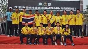ทีม ตะกร้อ ไทยไล่ฟาดคู่แข่งกระจุย กวาดแชมป์  ปิดฉากศึก ตะกร้อชายหาด ที่ จีน