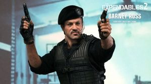 Hot toys แอ็คชั่นฟิกเกอร์ BARNEY ROSS 1/6th จาก Expendables2