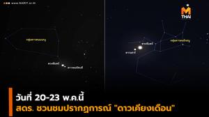 """20-23 พ.ค.นี้ ชวนชม """"ดาวเคียงเดือน"""" ดาวพฤหัสบดี-ดาวเสาร์เคียงดวงจันทร์"""