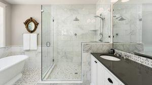 ไอเดียแต่ง ห้องน้ำสีขาว เรียบง่ายสบายตาและลงตัวมาก