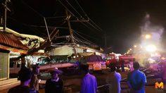 รถพ่วงหลับในพุ่งชนตลาดวัดตายมพังยับ มีผู้เสียชีวิต 1 ราย