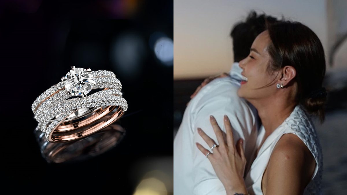 """ส่องแหวนเพชรเม็ดใหญ่ """"หญิง รฐา"""" สัญลักษณ์อินฟินิตี้แทนความหมาย รักที่ไม่มีวันสิ้นสุด"""