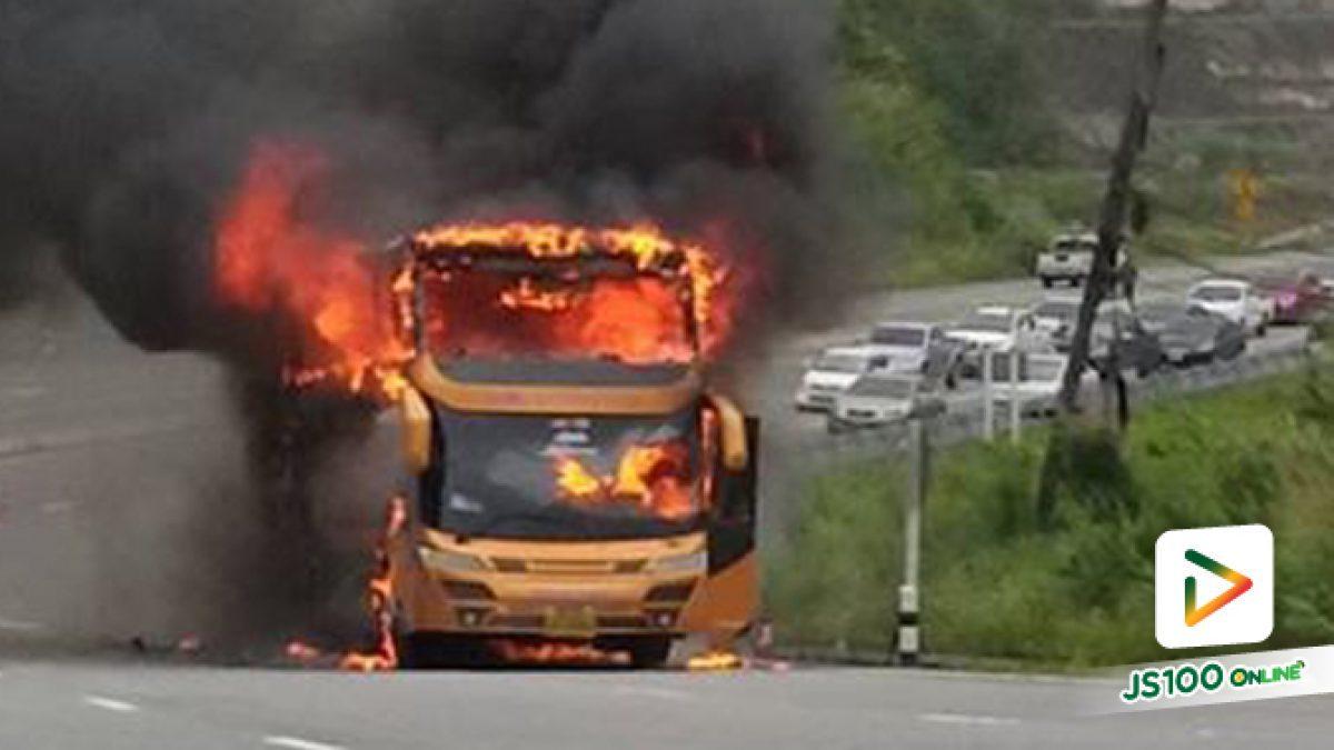 เพลิงไหม้รถบัสแรงงานเมียนมาร์กลางดอยรวก (30-06-62)