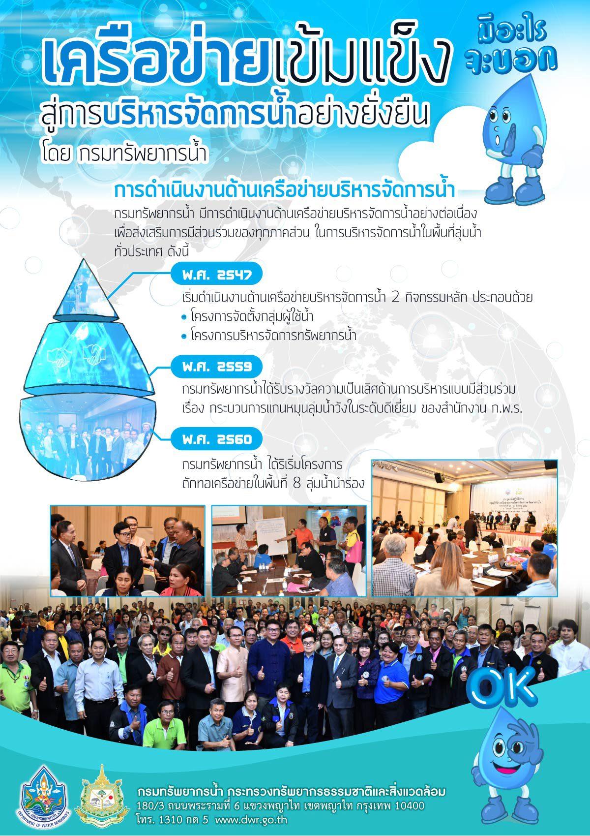 เครือข่ายเข้มแข็ง สู่การบริหารจัดการน้ำอย่างยั่งยืน