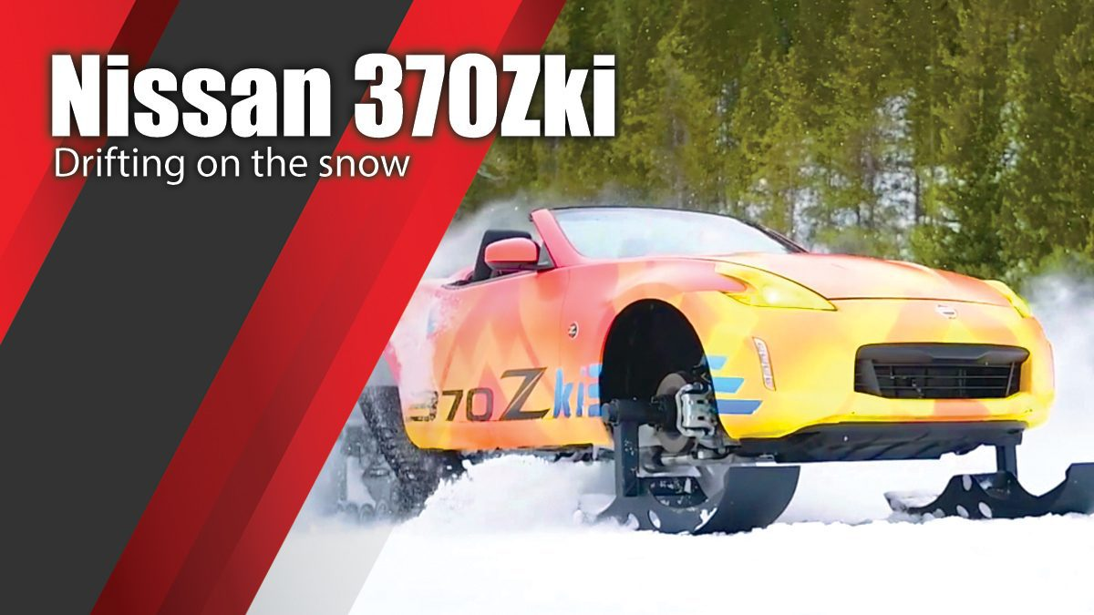 Nissan 370Zki Drifting on the snow
