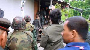 ทหารบุกค้นชุมชนวัดตะไกร หลังแก๊งยาบ้าเหิมล้อมรถตร. ชิงผู้ต้องหา