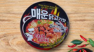 รีวิวทะลุถ้วยบะหมี่Little Cook Korean Hot & Spicy Chicken รสไก่เผ็ดเกาหลี
