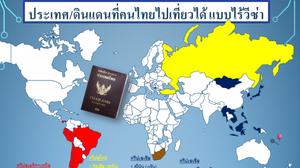 "Update ล่าสุด! ประเทศที่คนไทยเดินทางไปเที่ยวได้โดย ""ไม่ต้องขอวีซ่า"""