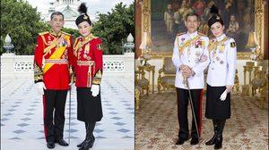 'ในหลวง ร. 10' พระราชทานพระบรมฉายาลักษณ์คู่ 'พระราชินี' สง่างามสมพระเกียรติ