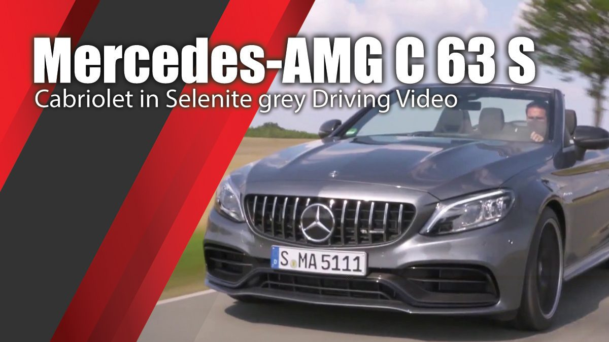Mercedes-AMG C 63 S Cabriolet in Selenite grey Driving Video