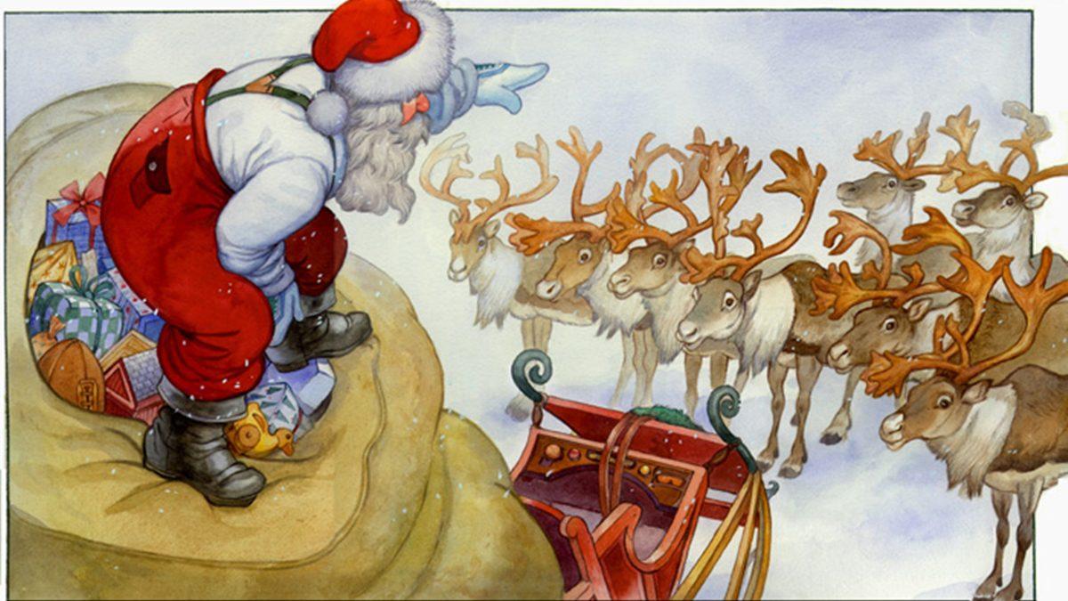 ตำนานกวางเรนเดียร์ ของซานตาคลอส