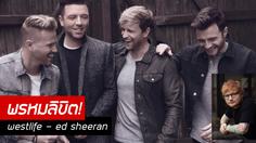 Ed Sheeran บรรลุความเป็น 'แฟนบอย' ได้แต่งเพลงให้ Westlife !!