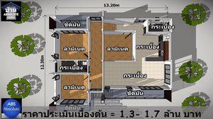 แบบ บ้านแนวโมเดิร์น ยกใต้ถุนสูงมีพื้นที่ใช้สอย 127 ตร.ม.