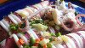 สูตร ปลาหมึกไข่นึ่งมะนาว ด้วยไมโครเวฟ