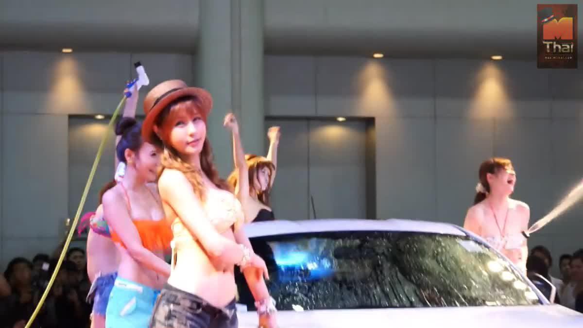 สาวญี่ปุ่น สาวเกาหลี ล้างรถในงาน Auto Salon 2013