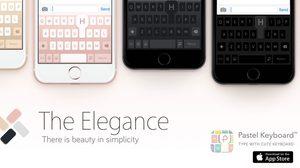 แอพ Pastel Keyboard ออกธีมสีคีย์บอร์ดใหม่ The Elegance เปลี่ยนสีตามสีเครื่อง iPhone 7
