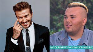 ไม่มีความเหมือน หนุ่ม 19 ทุ่มเงิน $26,000 ศัลยกรรมหน้าให้เหมือน Beckham