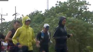 ตูน บอดี้สแลม วิ่งฝ่าสายฝน เข้าเมืองนครศรีธรรมราช ยอดบริจาคพุ่งกว่า 168 ล้าน