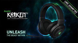Razer Kraken 7.1 หูฟังเสียงเซอร์ราวด์ USB สำหรับการเล่นเกม