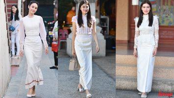 รวมนางเอก กับชุดสีขาวแต่งลูกไม้ หวานเบอร์ไหนต้องลองดู!!!