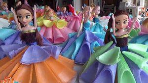กระทงตุ๊กตาบาร์บี้ ผลิตจากโคนไอศกรีม ยอดขายพุ่งรับวันลอยกระทง