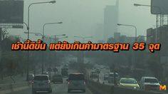 สถานการณ์ฝุ่นละออง PM2.5 เช้านี้ดีขึ้น แต่ยังเกินค่ามาตรฐาน 35 จุด