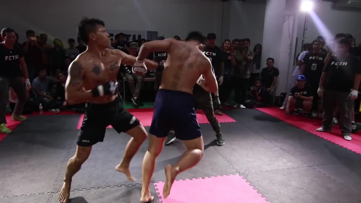 Fight Club Thailand 2017 นนท์เสือยิ้ม x ไก่กล้าม คู่ที่ 214