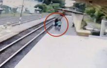 ชื่นชม! รปภ.สถานีรถไฟศรีสะเกษวิ่งสุดฝีเท้าดึงชายออกจากทางรถไฟ