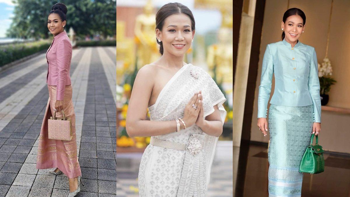 """6 ไอเดียใส่ชุดไทย สำหรับสาวผิวสีน้ำผึ้ง สไตล์ """"กาละแมร์ พัชรศรี"""""""