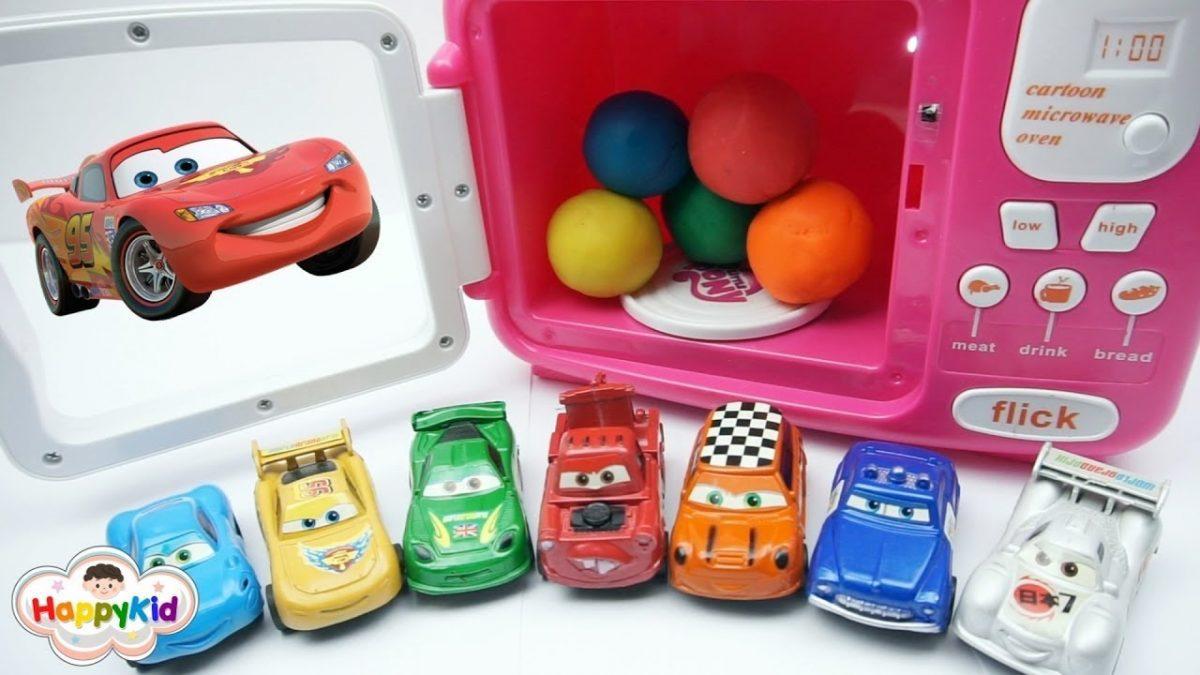 ของเล่นเซอร์ไพรส์ในไมโครเวฟ | เรียนรู้สี | Learn Colors With Play Doh Surprise Toys
