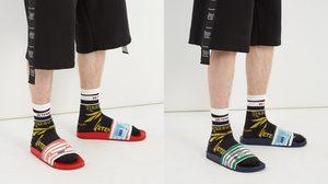 รองเท้าแตะ Vetements คอลเลคชั่นใหม่ ที่ได้แรงบันดาลใจมาจากฉลากบนบวดน้ำดื่ม