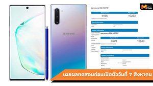 เผยผลทดสอบความแรง Samsung Galaxy Note 10 ที่มาพร้อมกับ Exynos 9825