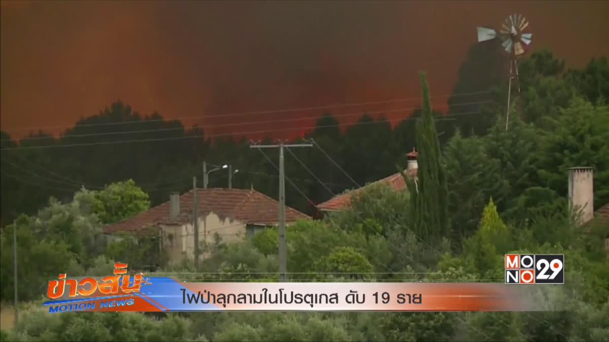 ไฟป่าลุกลามในโปรตุเกส ดับ 19 ราย