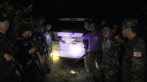 ตร.นครพนมยึดรถ 4 คัน หลังซุกกลางป่า ริมน้ำโขง