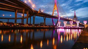ชวนถ่ายรูป ไฟประดับ สะพานข้ามแม่น้ำเจ้าพระยา 5 แห่ง เฉลิมพระเกียรติ ร.10