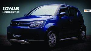 เผยราคา Suzuki Maruti Ignis รุ่น Limited Edition