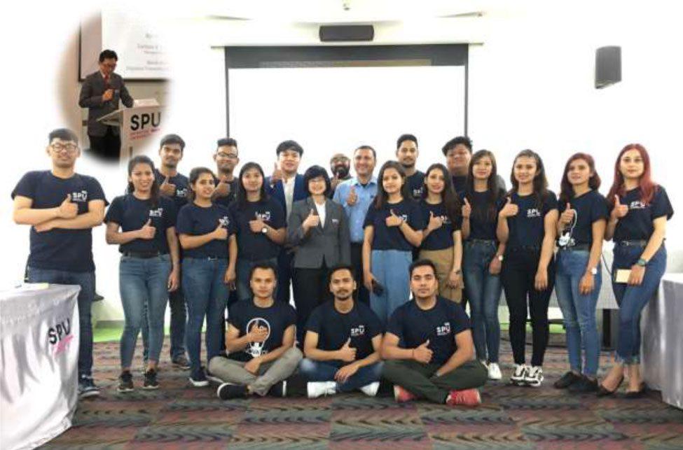 บริการวิชาการสู่นานาชาติ! SITI SPU ถ่ายทอดความรู้สู่ นศ.MBA.เนปาล