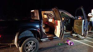 คนร้ายจ่อยิง 2 ชายหญิงดับคารถกระบะ ที่อ.นาทวี พบยาเสพติดภายในรถ