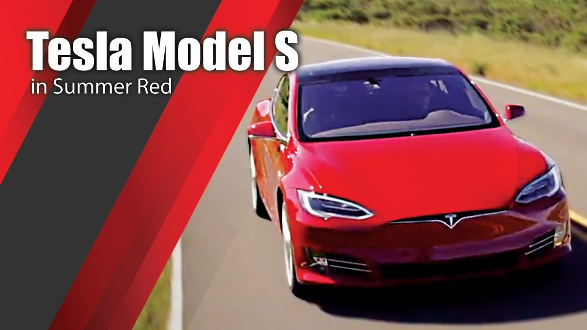 Tesla Model S in Summer Red