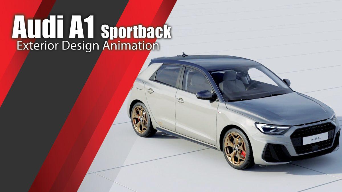 Audi A1 Sportback Exterior Design Animation