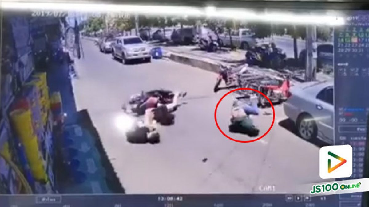 อุทาหรณ์ จะขี่รถจยย. หรือเดินข้ามถนนที่ไหนก็ตามต้องระมัดระวังให้ดี!! (16/07/2562)