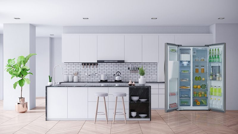 """""""ตู้เย็น side by side"""" นวัตกรรมความเย็นสมัยใหม่"""