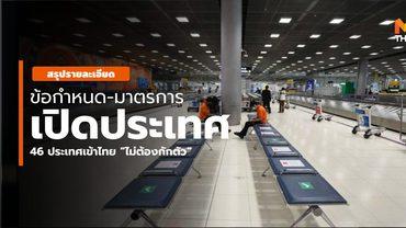 """ข้อกำหนด """"เปิดประเทศ"""" สำหรับผู้ที่จะเข้าไทยไม่กักตัว / รายชื่อประเทศ"""