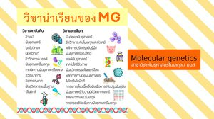 หลักสูตรน้องใหม่ MG สาขาวิชาพันธุศาสตร์โมเลกุล คณะวิทยาศาสตร์ มมส